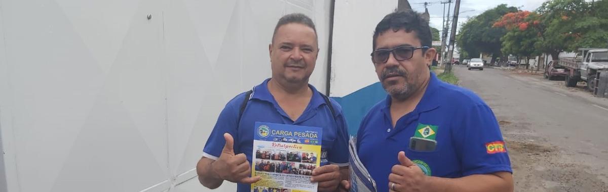 SINDICAM NA BASE:    Diretoria do Sindicato realiza visita aos trabalhadores da empresa Econômica