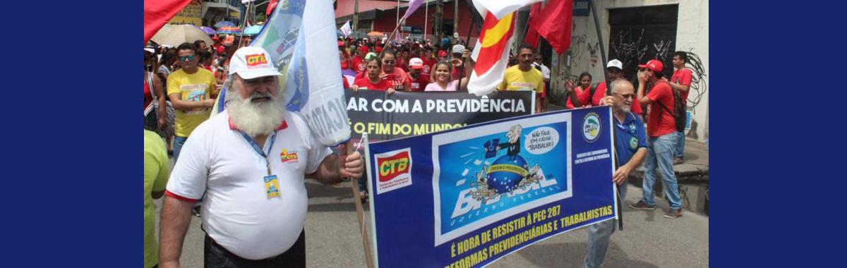 SINDICAM-CE sai às ruas para manifestar contra as Reformas de Temer