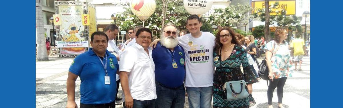 SINDICAM participa de ato contra a Reforma da Previdência