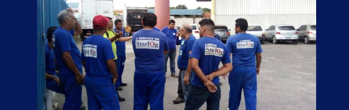 Trabalhadores da Starlog cruzam os braços por descumprimento da Convenção Coletiva de Trabalho