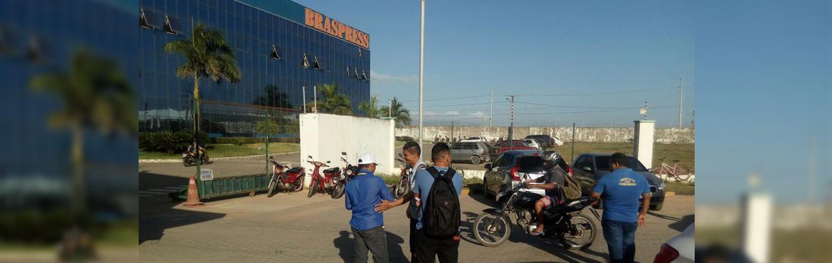 SINDICAM intensifica a luta na portada fábrica da BRASPRESS