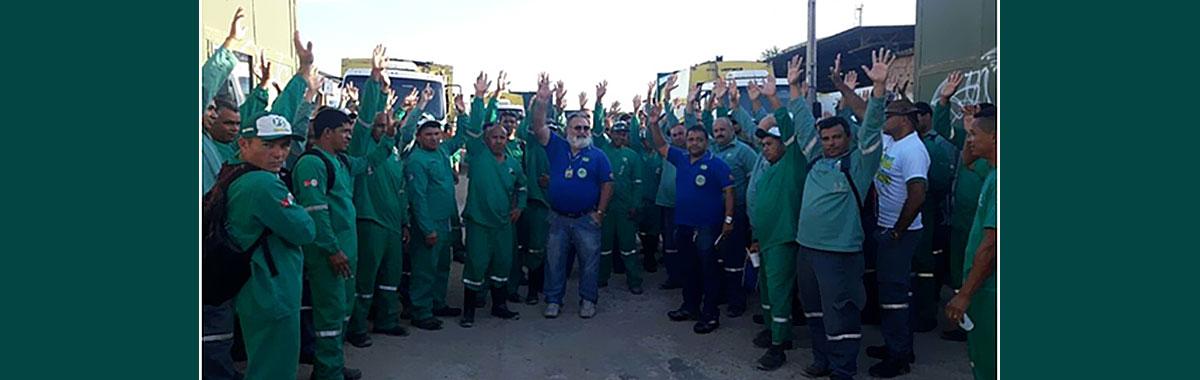 Por unanimidade trabalhadora da empresa Braslimp, aprovaram o reajuste de 10,5% de aumento