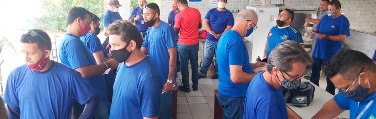 Trabalhadores(as) da Lauto Cargo Transportes recebe visita da diretoria do SINDICAM