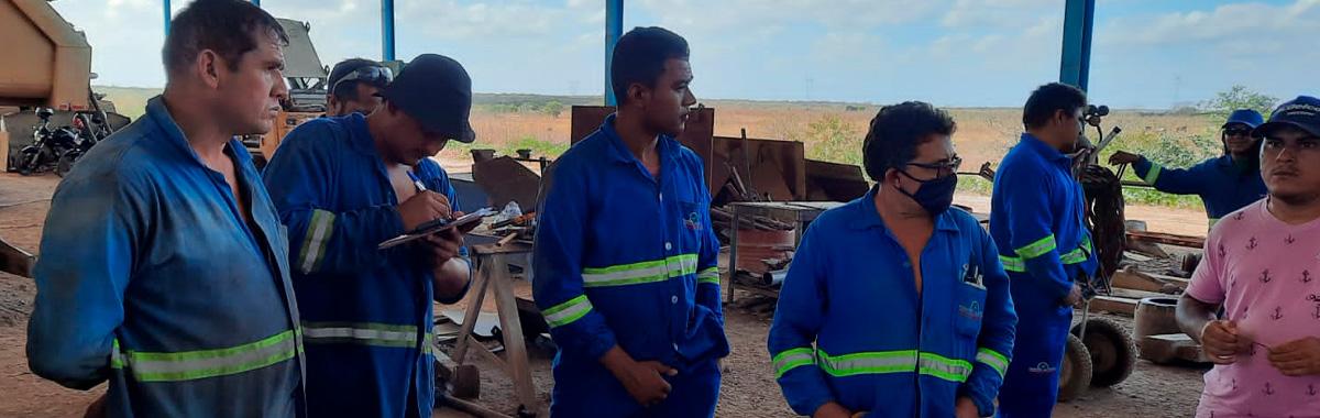 Reunião com os Trabalhadores(as) da empresa Comercial Diesel